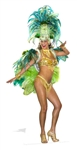 Groovy Green Circus Carnival Festival Babe Cardboard Cutout