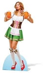 Star Cutouts Ltd SC876 Oktoberfest Beer Babe Cardboard Cutout/ Stand Up/ Standee Perfect for Beer Festival fans, collectors, parties and events