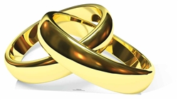 Eternity Wedding Rings Large Cardboard Standee