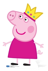 Star Cutouts Princess Peppa Pig Crown Cardboard Cutout