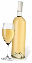 Glass and White Wine