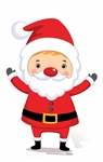 Mini Father Christmas Santa Cardboard Cutout