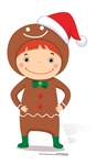 Star Cutouts Ltd SC986 Mini Gingerbread Boy Cardboard Cutout/ Stand Up/ Standee Perfect for Kids Christmas Schools, Churches, Parties and Events Height 83cm