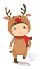 Star Cutouts Ltd SC987 Mini Reindeer Cardboard Cutout/ Stand Up/ Standee Perfect for Children's Christmas Decorations, Parties and Events Height 92cm