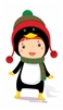 Star Cutouts Ltd SC989 Mini Penguin Cardboard Cutout/ Stand Up/ Standee Perfect for Children's Christmas Decorations, Parties and Events Height 87cm