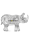 SCC015 Rhino Relax Colour Craft & Keep Cardboard Cutout/Standee/Standup