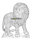 SCC017 Lion Relax Colour Craft & Keep Cardboard Cutout/Standee/Standup