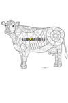 SCC021 Cow Relax Colour Craft & Keep Cardboard Cutout/Standee/Standup