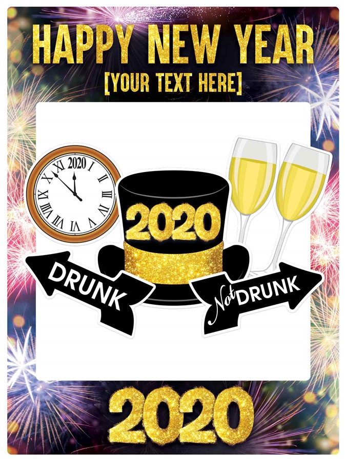 New Years Eve Selfie Style Frame Frame A1 Size
