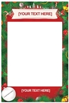 SF010 A0 Large Christmas Festive Selfie Frame Personalise for Home Work Friends and Family Height 122cm Width 79cm