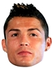 Star Cutouts RONALDO  Football SINGLE MASK