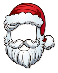 Father Christmas Open Face Mask (Santa)