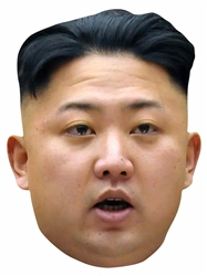Star Cutouts Kim Jong-un SINGLE MASK