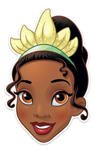 Tiana Fun Face Mask for Children for Birthdays, Fans & Disney Princess Parties   Great Talking Point