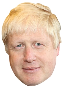 Star Cutouts SM346	Boris Johnson Single Mask with Tabs and Elastic