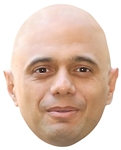 SM347 Sajid Javid Politican Single Mask with Tabs and Elastic
