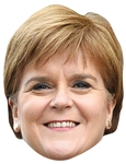 SM348	Nicola Sturgeon Politician Single Mask with Tabs and Elastic