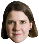 SM349	Jo Swinson Politician Single Mask with Tabs and Elastic