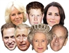 ROYAL FAMILY 7 PACK  (Queen, Phillip, William, Harry, Kate, Charles & Camilla)