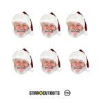 Star Cutouts Ltd SMP135 Father Christmas Masks Six Pack of Santa Clause Cardboard Masks Great Talking Point for Christmas Decorations