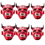 SMP149 Star Cutouts  Devil Six Pack Face Mask Halloween, Horrror, Monster Party and Event Great Talking Point for Friends, Fans and Family