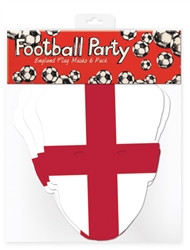 England Flag Masks 6 pack Football Mask World Cup