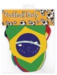 Contenders Flag Face Mask 6 pack Football World Flags Cup