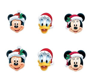 Star Cutouts Ltd SMP265 Disney Christmas Masks Six Pack Mickey Mouse, Minnie Mouse and Donald Duck Ideal for Christmas Parties