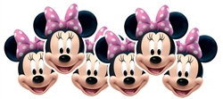 Minnie Mouse 6 pack (Contents 6 Minnie Masks)