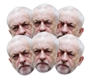 JEREMY CORBYN SIX PACK MASKS