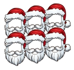 Star Cutouts SMP368 Christmas Santa Open Face Six Pack Mask Become Father Christmas Perfect for Office Christmas Parties, Staff Rooms and Events
