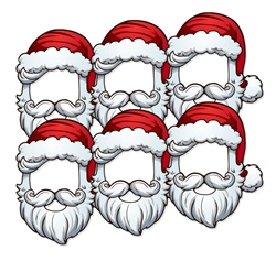 Father Christmas Santa Open Face 6 Pack