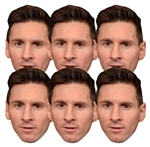 Six pack masks of Lionel Messi Football  (6 Pack) Argentina