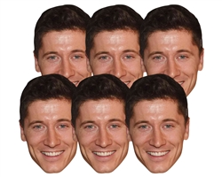 Six pack masks Robert Lewandowski (6 Pack) Poland