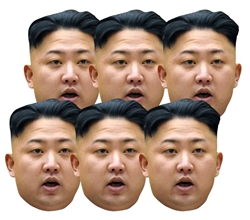 Six pack masks of Kim Jun Un Politics (6 Pack)