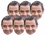 Six pack masks Rowan Atkinson (6 Pack)