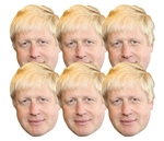 Star Cutouts Boris Johnson 6  Mask Pack Politician