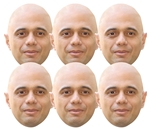 SMP408	Sajid Javid Politician 6 Pack Includes Tabs and Elastic