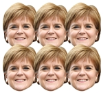 SMP409	Nicola Sturgeon Politician 6 Pack Includes Tabs and Elastic