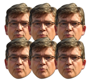 SMP411 Arnaud Montebourg 6 Pack of Masks Great fun for family, friends and fans.