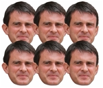 SMP413 Manuel Valls 6 Pack of Masks Great Fun for Politics Parties and Fans