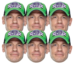 SMP416 John Cena 6 Pack WWE Masks WWE Masks  6 Pack of Wrestling Masks Great fun for family, friends and fans.
