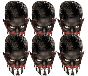 SMP417 Finn Balor WWE Masks  6 Pack of Wrestling Masks Great fun for family, friends and fans.