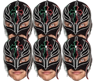 SMP418 Rey Mysterio WWE Masks  6 Pack of Wrestling Masks Great fun for family, friends and fans.