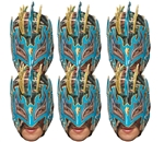 SMP419 Kalisto WWE Masks  6 Pack of Wrestling Masks Great fun for family, friends and fans.