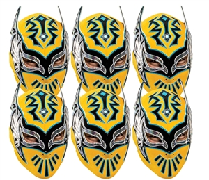 SMP420 Sin Cara WWE Masks  6 Pack of Wrestling Masks Great fun for family, friends and fans.