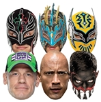 SMP421 WWE Multipack Wrestler Masks includes Sin Cara Kalisto Rey Mysterio Finn Balor John Cena The Rock