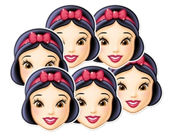 Snow White Party Masks - 6 Pack