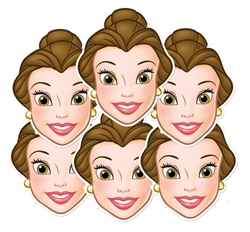 Belle Party Masks - 6 Pack