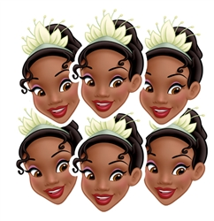 Tiana Party Masks - 6 Pack